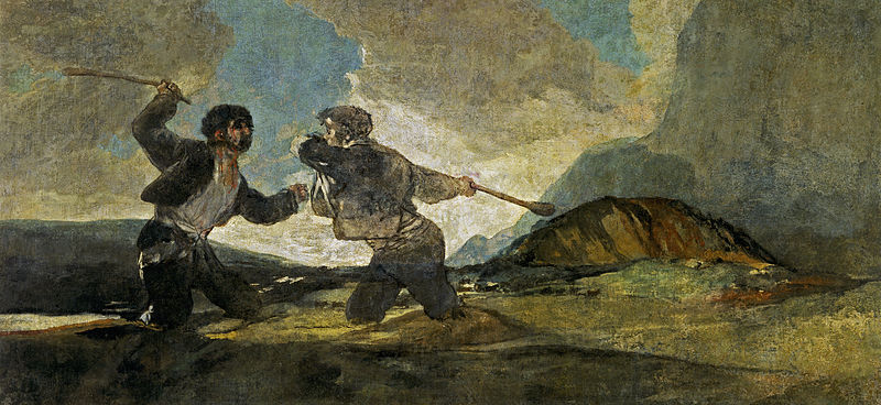 Duelo a garrotazos - Francisco de Goya