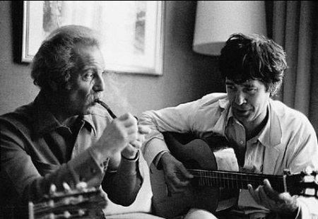 George Brassens y Paco Ibañez