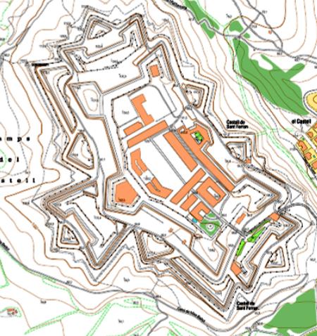 Plano del Castillo de San Fernando