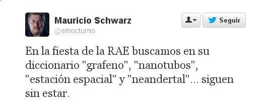 Tuit de Mauricio Schwarz, @elnocturno
