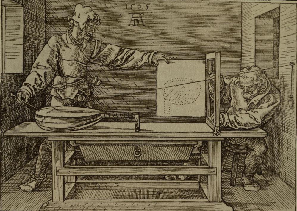 Durero: Hombre dibujando un lute